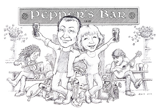 Our Christmas Card Drawn by our Friend Mark Farmer