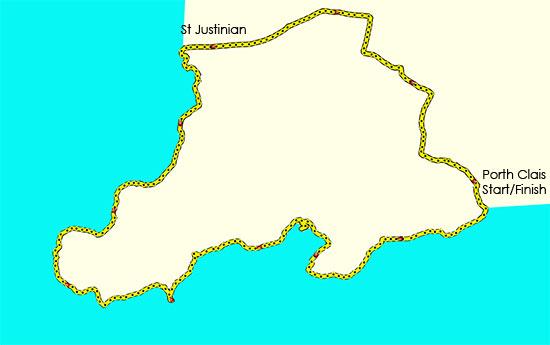 Porth Clais to St Justinians Walk