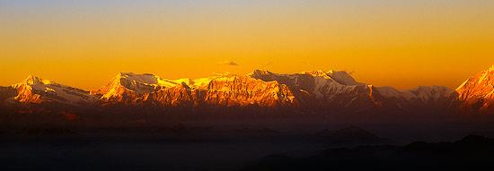 Nepal's Western Himalayas at Sunset