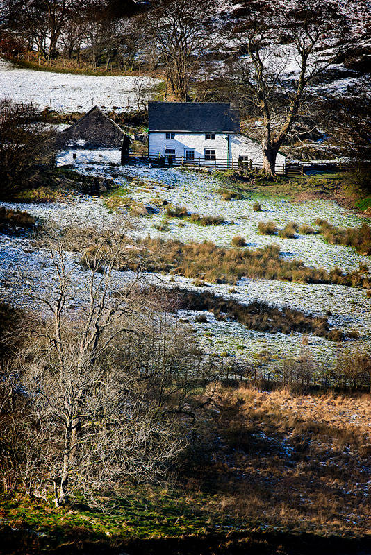 Elan Valley Farm House in Winter