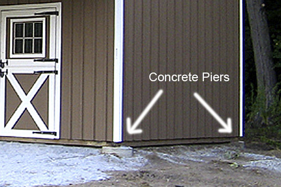 Concrete Piers for Barn