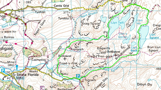 Teifi Pools Map