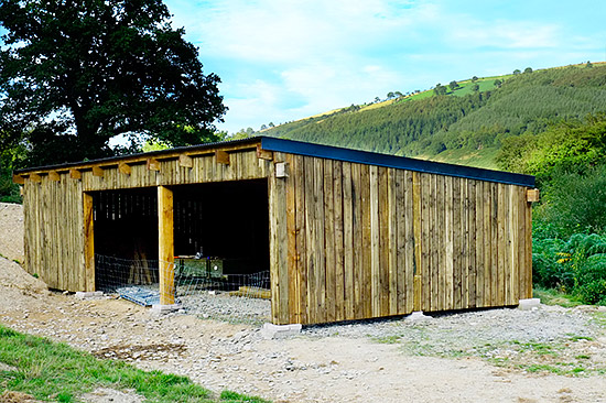 Building a pole barn part 5 john and liz burton for Open pole shed